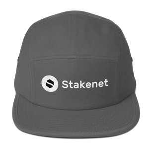 5 Panel Cap with Vertical White Stakenet Logo
