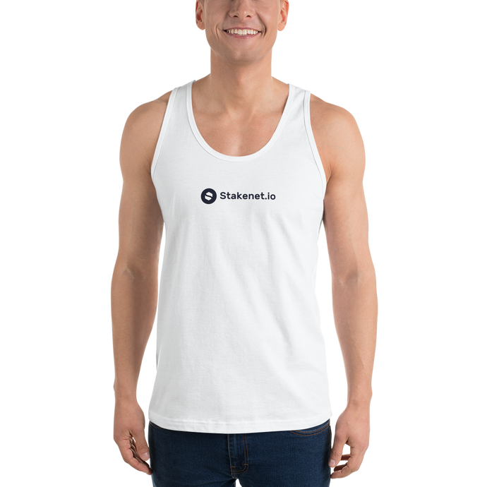 Classic Tank Top with Black Stakenet.io Logo
