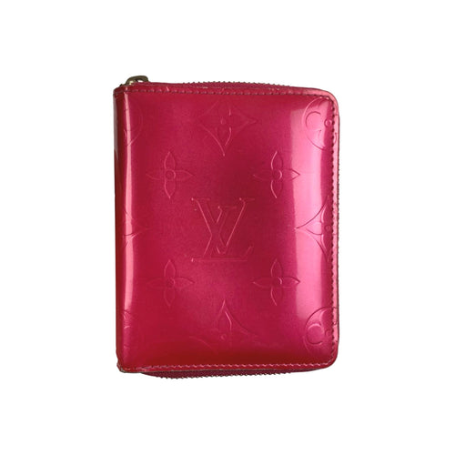 Louis Vuitton Monogram Vernis Zip Wallet, Pink