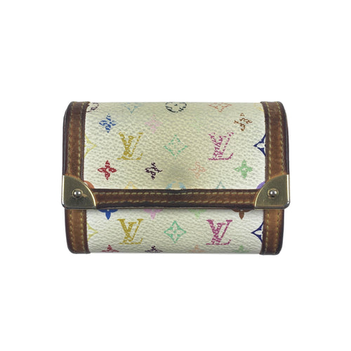 Louis Vuitton Multicolour Monogram Coin/Card Holder Wallet, White