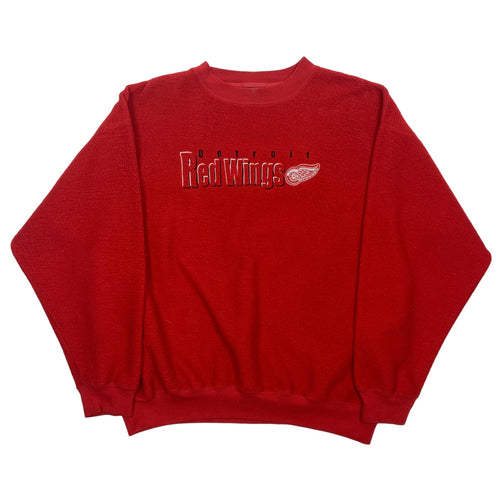 Vintage Detroit Red Wings Embroidered Crewneck