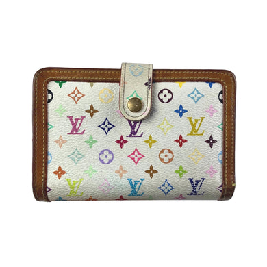 Louis Vuitton × Takashi Murakami Multicolour Monogram Wallet, White