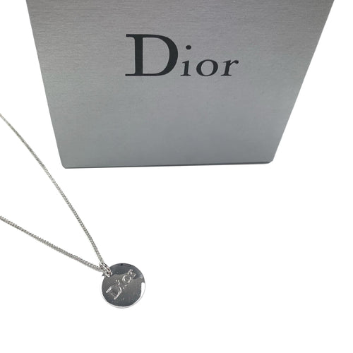 Dior Silver Charm Necklace