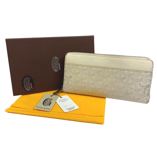 Goyard Matignon Continental Zipper Wallet White