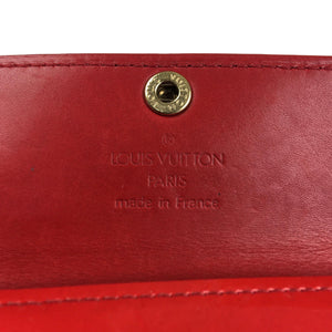 Louis Vuitton Vernis Coin/Card Wallet, Red