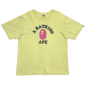 A Bathing Ape College Tee, Yellow