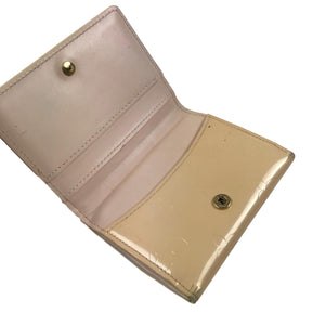 Louis Vuitton Vernis Card Case/Wallet, Cream