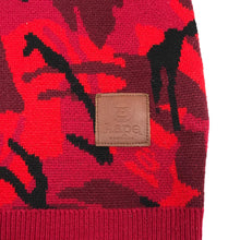 A Bathing Ape Aape Red Camo Knit Sweater