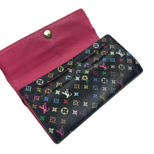 Louis Vuitton x Takashi Murakami Multicolour Monogram Portefeuille Sarah Long Wallet, Black