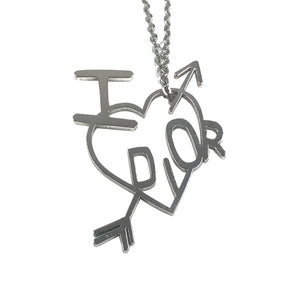 Dior 'I Love Dior' Silver Heart Necklace