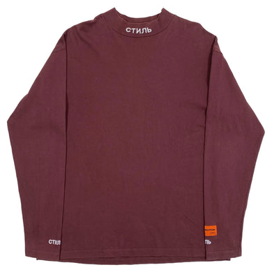 Heron Preston Mock Neck Maroon