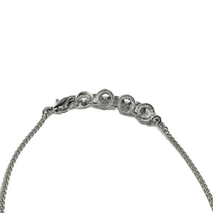 Dior Spellout Silver Necklace
