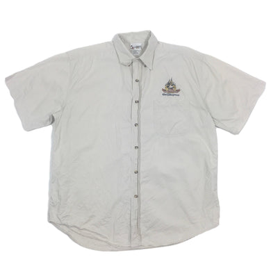 Walt Disney World Embroidered Button Up Shirt