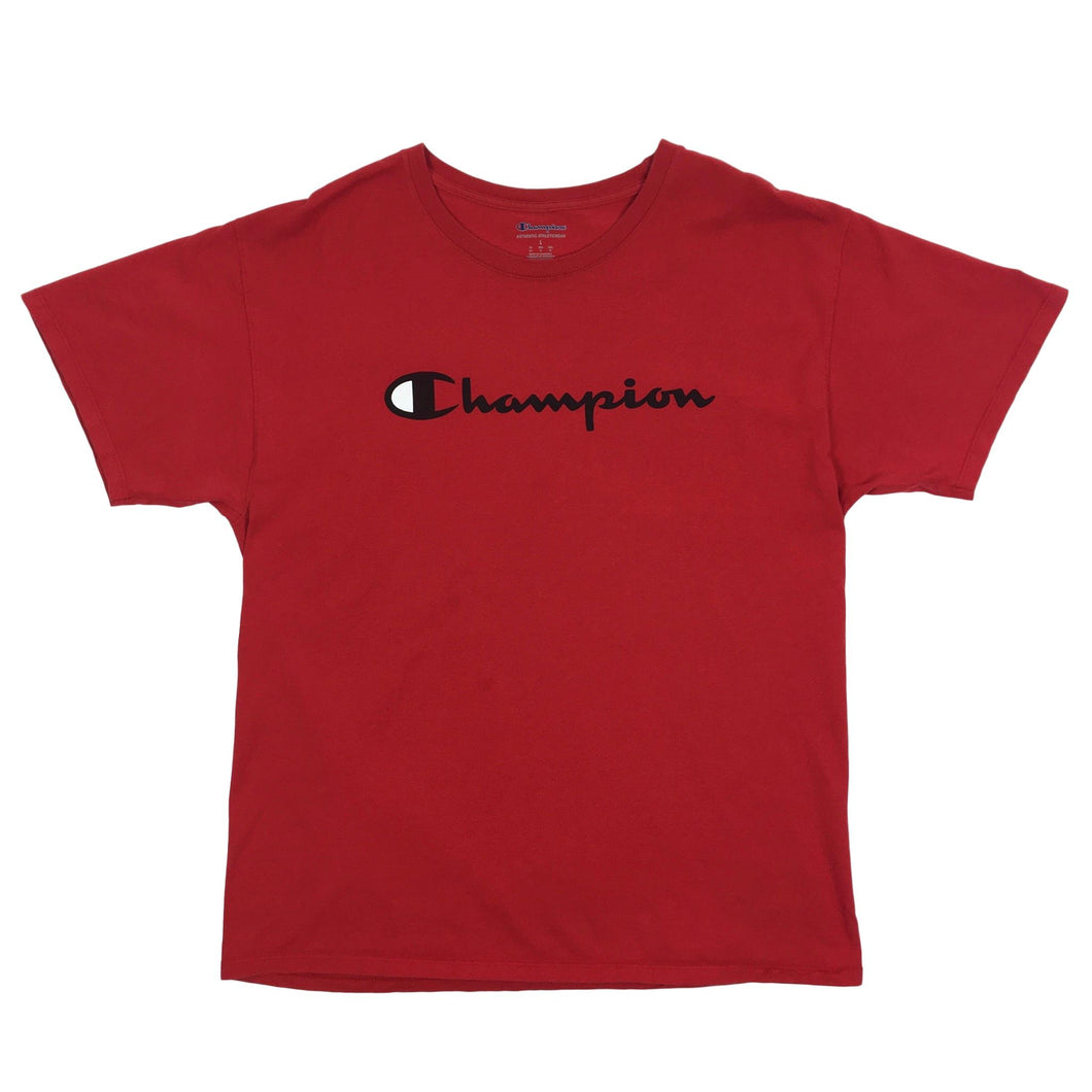 Champion Big Spellout Logo Red Tee