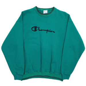 Vintage Champion Reverse Weave Embroidered Spellout Crewneck