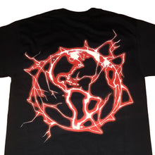 Revenge Lightning Logo Tee, Black/Red