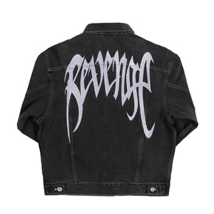 Revenge Black Denim Embroidered Jacket