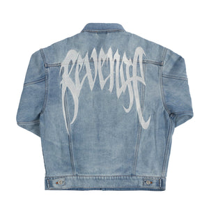 Revenge Blue Denim Embroidered Jacket