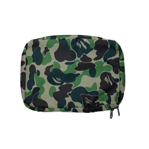 A Bathing Ape Green Camo Pouch