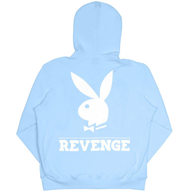 Revenge x Playboy Blue Embroidered Trademark Hoodie