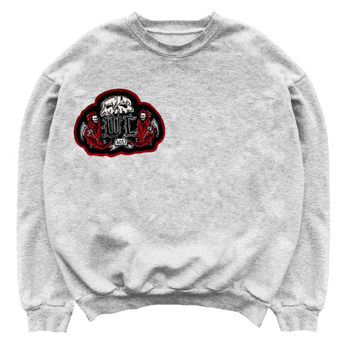 Warren Lotas Chenille Patch Crewneck Grey