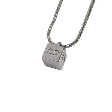 Dior Silver Cube Necklace