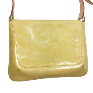 Louis Vuitton Vernis Thompson Shoulder Bag Yellow