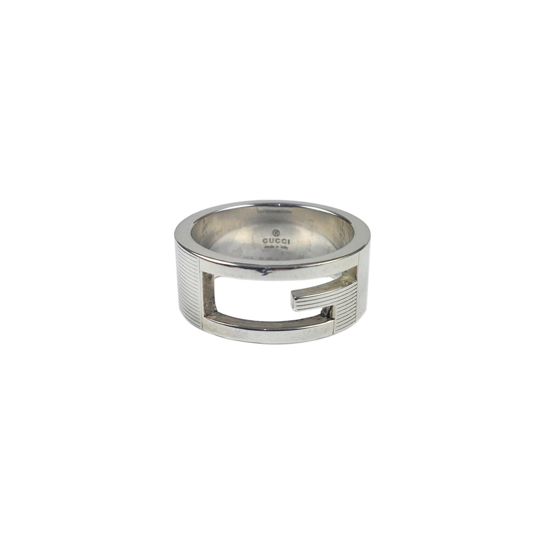 Gucci Silver G Cut Out Ring, Size: 12
