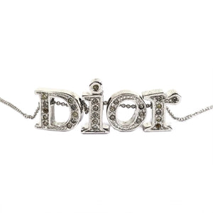 Dior Silver Spellout Necklace