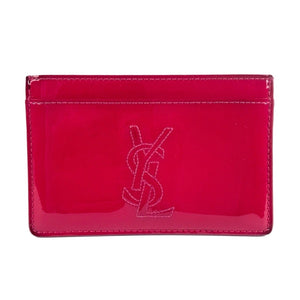 Yves Saint Laurent Patent Leather Card Holder Wallet