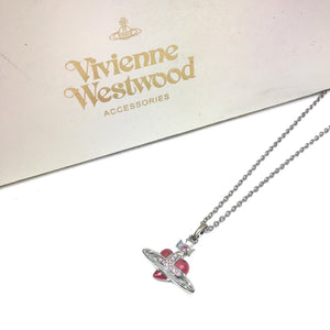 Vivienne Westwood Pink Heart Necklace