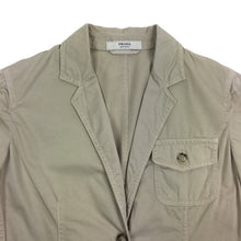 Prada Womens Cotton Military 2 Button Blazer Jacket