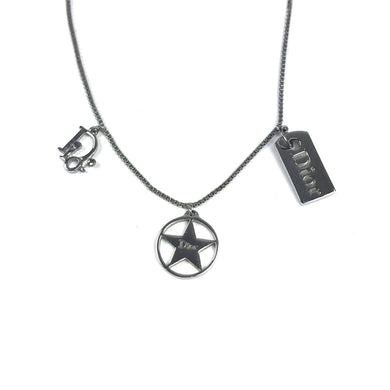 Dior Rare Silver Charm Necklace