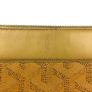 Goyard Matignon Continental Zipper Wallet Yellow
