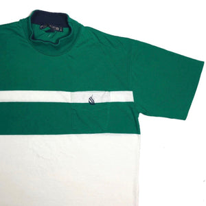 Vintage Nautica Striped Mock Neck Pocket Tee