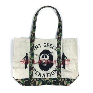 Bape x Stussy Camo Tote Bag Limited Edition