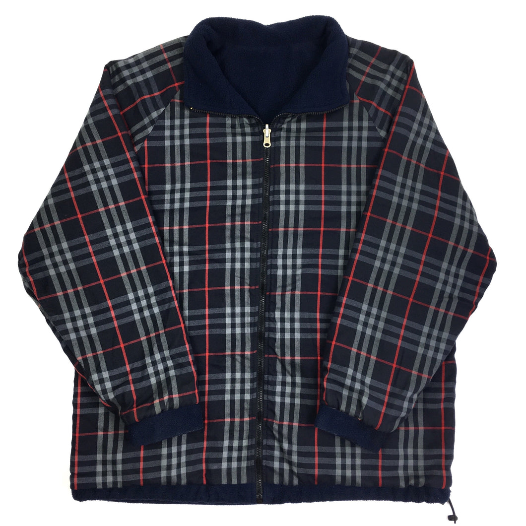 Burberry Check Reversible Fleece Jacket
