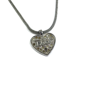 Dior Silver Heart Necklace