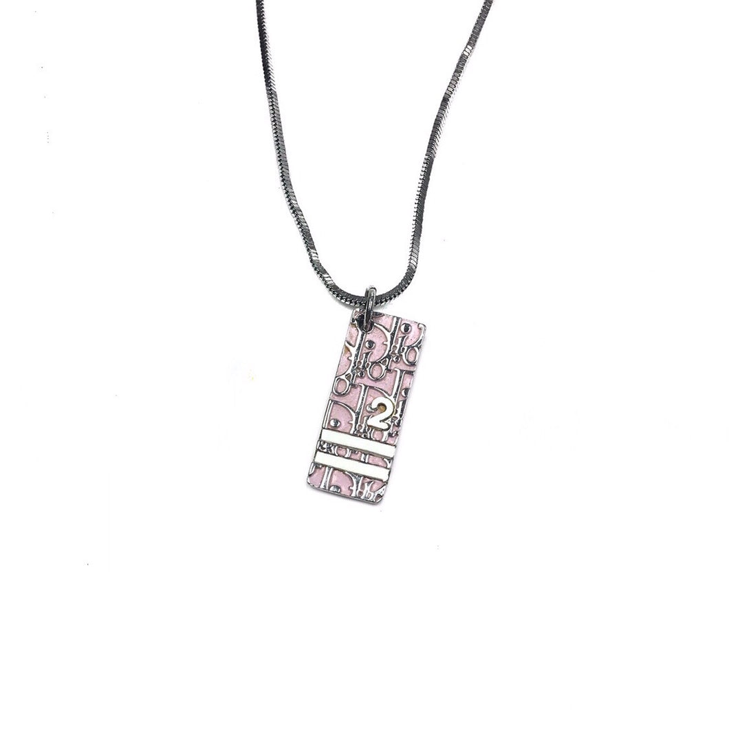 Christian Dior Trotter Number 2 Necklace Pink