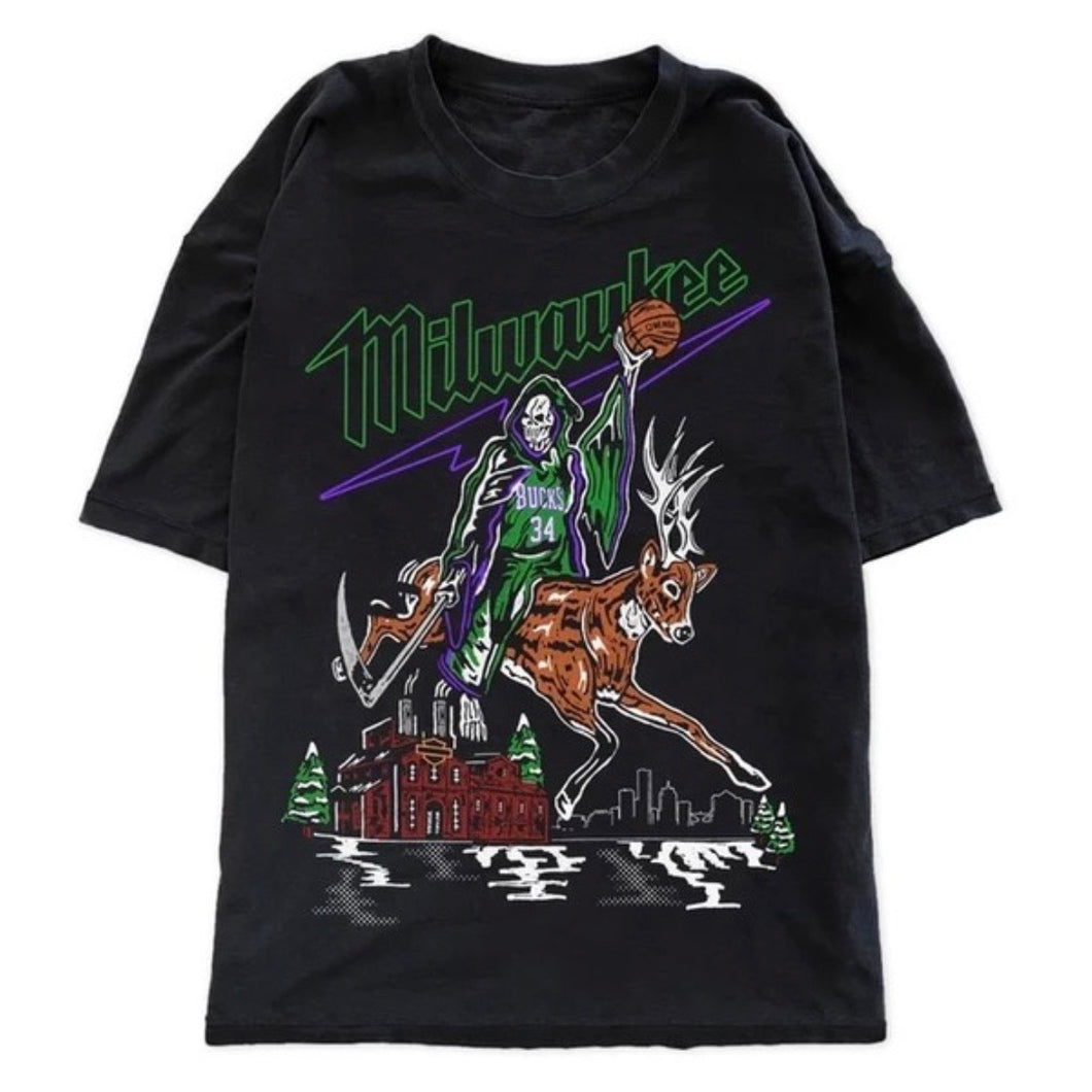 "Warren Lotas Milwaukee Bucks ""Buckrider"" T-Shirt"