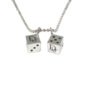 Dior Silver Dice Necklace