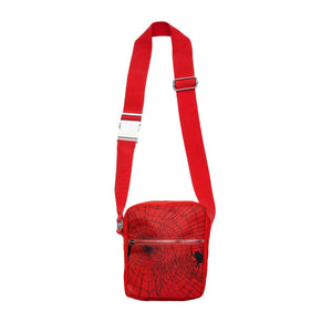 Revenge Red-Orange Spiderweb Bag
