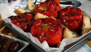 High Protein Stuffed Red Capsicums