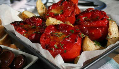 Stuffed Red Capsicums