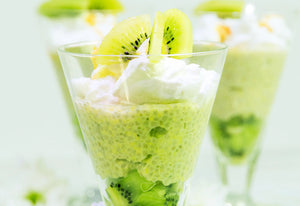 Lupin & Chia Pudding with Coconut & Kiwi