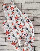 country Bumpkin Dungarees - rainbow meadow - PRE ORDER