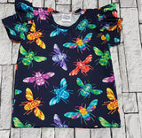 flutter T-shirt - rainbow meadow - pre order