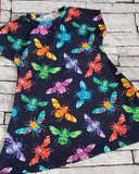 Simple Jersey dress - butterfly garden