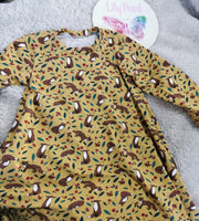 4-5years tshirt dress foxes - ready to post