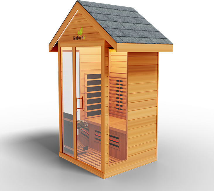 Outdoor Medical Sauna Nature 5  Infrared & Stove Sauna